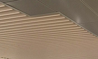 Aluminium Baffled Ceiling to Concourse Area