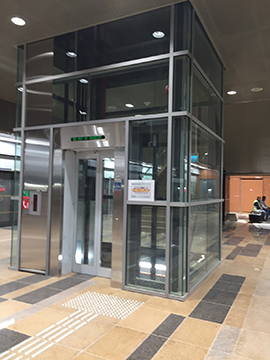 Glass Lift Enclosure from Platform Level to Concourse Level