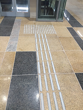 Stainless Steel Tactile at Platform Area